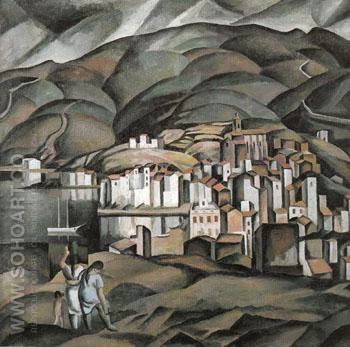 Cadaques seen from the Tower of Creus c1923 - Salvador Dali reproduction oil painting