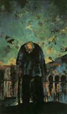 Crepuscular Old Man 1918 - Salvador Dali reproduction oil painting