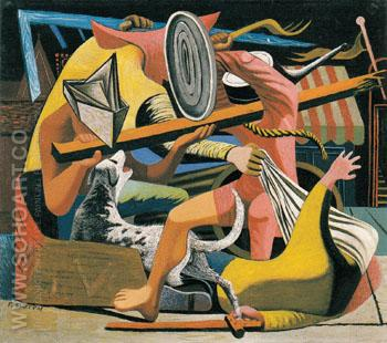 The Gladiators 1938 - Philip Guston reproduction oil painting