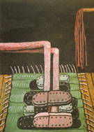 Green Rug 1976 - Philip Guston