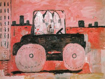 City Limits 1969 - Philip Guston reproduction oil painting
