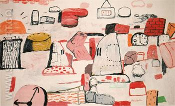 Flatlands 1970 - Philip Guston reproduction oil painting