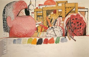 Studio Landscape 1975 - Philip Guston reproduction oil painting