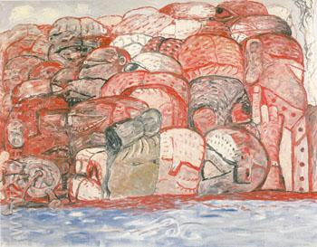 Groop in Sea 1979 - Philip Guston reproduction oil painting