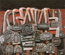 Ancient Wall 1976 - Philip Guston reproduction oil painting