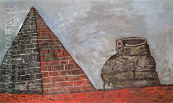 Pyramid and Shoe 1977 - Philip Guston reproduction oil painting