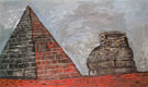 Pyramid and Shoe 1977 - Philip Guston
