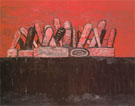 Red Sky 1976 - Philip Guston reproduction oil painting