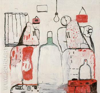 Bad Habits 1970 - Philip Guston reproduction oil painting