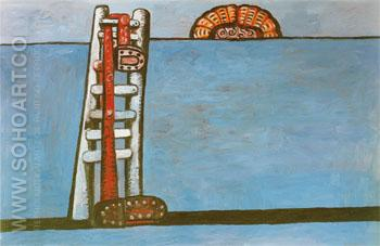 Ladder 1976 - Philip Guston reproduction oil painting