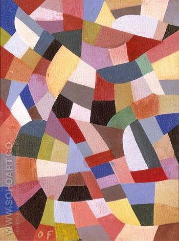 Composition A 1919 - Otto Freundlich reproduction oil painting