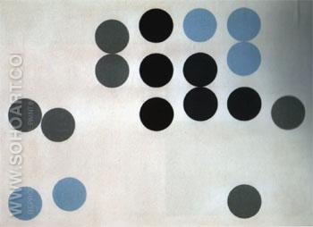 Moving Circles 1933 - Sophie Taeuber Arp reproduction oil painting