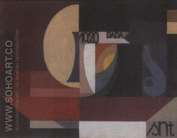 Composition Dada 1920 - Sophie Taeuber Arp reproduction oil painting