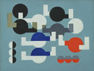 Composition of Circles and Overlapping Angles 1930 - Sophie Taeuber Arp reproduction oil painting