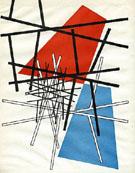 OT Croisement de Droites Plans 1942 - Sophie Taeuber Arp reproduction oil painting