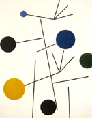 Rising Falling Flying 1934 - Sophie Taeuber Arp reproduction oil painting