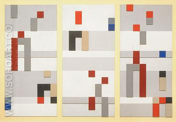Vertical and Horizontal Composition 1928 - Sophie Taeuber Arp reproduction oil painting