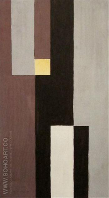 Vertical Horizontal Composition 1928 - Sophie Taeuber Arp reproduction oil painting