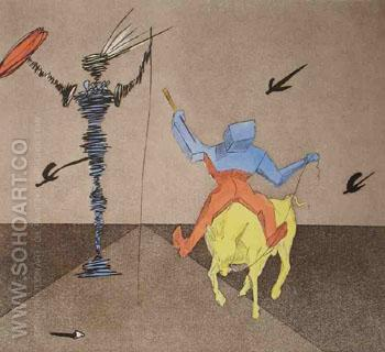Master and Squire - Salvador Dali reproduction oil painting