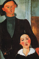 Jacques and Berthe Lipchitz 1916 - Amedeo Modigliani reproduction oil painting