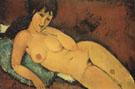 Nude on a Blue Cushion 1917 - Amedeo Modigliani