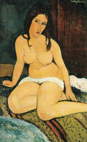 Seated Nude 1917 - Amedeo Modigliani reproduction oil painting