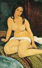 Seated Nude 1917 - Amedeo Modigliani
