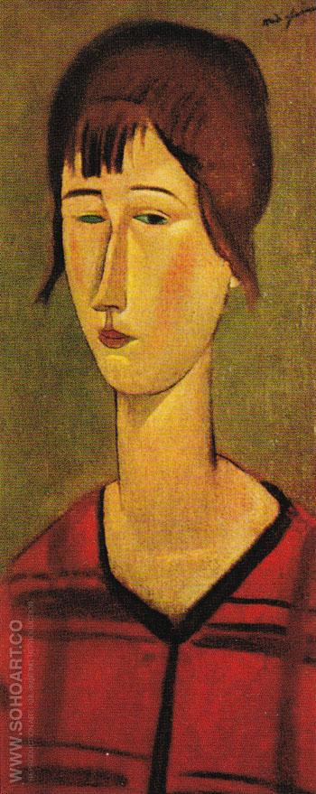 Marcelle 1917 - Amedeo Modigliani reproduction oil painting
