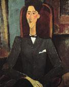 Portrait of Jean Cocteau 1916 - Amedeo Modigliani reproduction oil painting