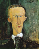 Portrait of Blaise Cendrars 1918 - Amedeo Modigliani reproduction oil painting
