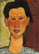 Portrait of Chaim Soutine 1915 - Amedeo Modigliani reproduction oil painting
