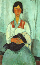 Gypsy Woman with Child 1919 - Amedeo Modigliani