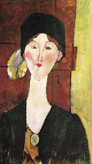 Beatrice Hastings 1915 - Amedeo Modigliani reproduction oil painting