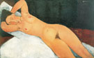 Nude with Necklace 1917 - Amedeo Modigliani reproduction oil painting