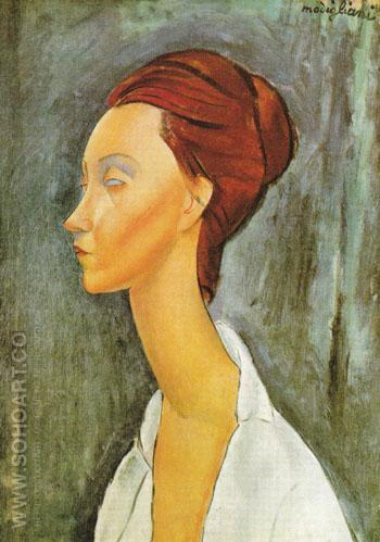 Portrait of Lunia Czechovska 1919 - Amedeo Modigliani reproduction oil painting