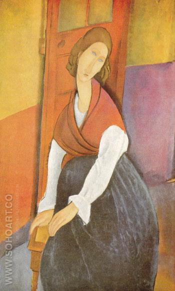 Jeanne Hebuterne - Amedeo Modigliani reproduction oil painting