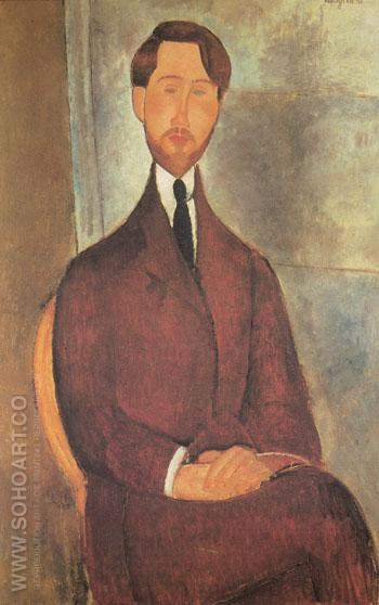 Portrait of Leopold Zborowski 1916 - Amedeo Modigliani reproduction oil painting