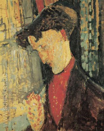 Portrait of Frank Burty Haviland 1914 - Amedeo Modigliani reproduction oil painting
