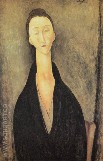 Madame Zborowska 1918 - Amedeo Modigliani reproduction oil painting