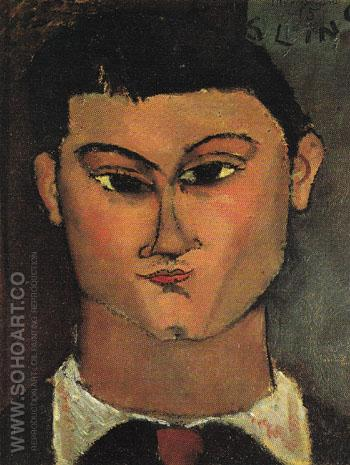 Portrait of Moise Kisling 1915 - Amedeo Modigliani reproduction oil painting