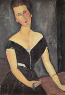 Portrait of Madame Georges van Muyden 1917 - Amedeo Modigliani reproduction oil painting