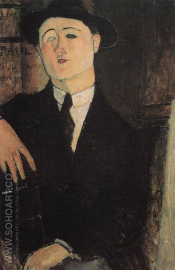 Portrait of Paul Guillaume 1916 - Amedeo Modigliani reproduction oil painting