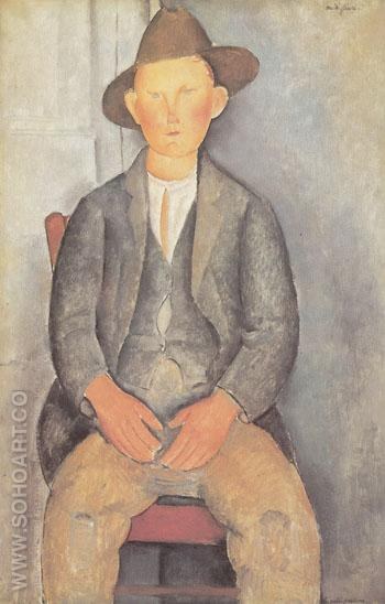 The Little Peasant 1918 - Amedeo Modigliani reproduction oil painting