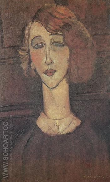 The Blonde Renee 1916 - Amedeo Modigliani reproduction oil painting