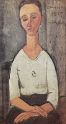 Portrait of Lunia Czechowska 1917 - Amedeo Modigliani