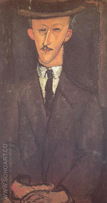 Man in a Hat 1916 - Amedeo Modigliani reproduction oil painting