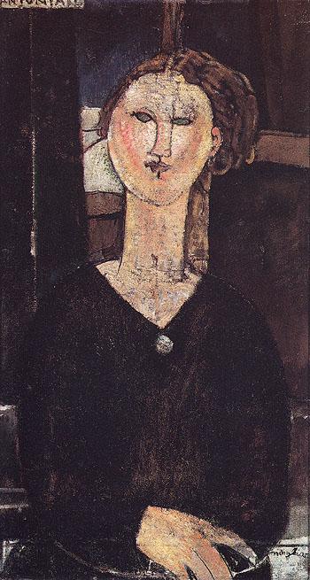 Antonia 1915 - Amedeo Modigliani reproduction oil painting