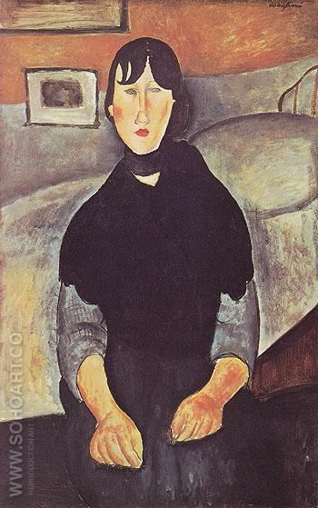 The Country Girl 1919 - Amedeo Modigliani reproduction oil painting