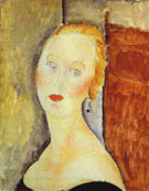 A Blond Woman Portrait of Germaine Survage 1918 - Amedeo Modigliani