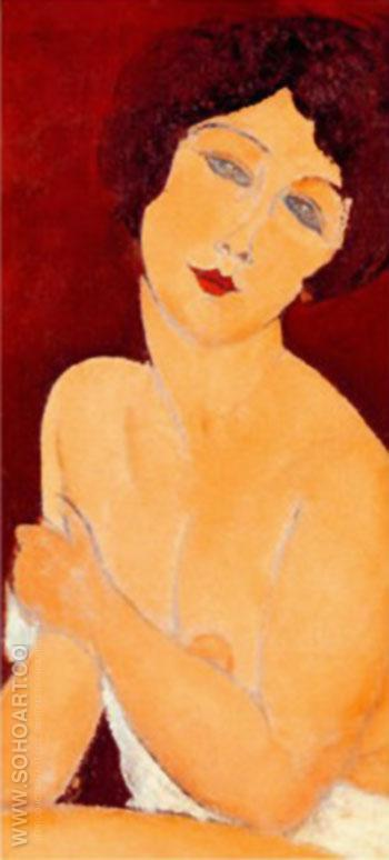 Beautiful Roman Girl - Amedeo Modigliani reproduction oil painting